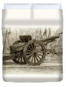 Gun At Fort Howard Duvet Cover