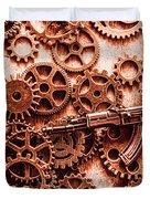 Guns Of Machine Mechanics Duvet Cover