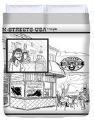 Gurley Street Coffee Duvet Cover