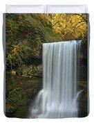Gushing At Silver Falls Duvet Cover