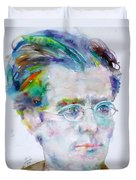 Gustav Mahler - Watercolor Portrait.3 Duvet Cover