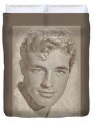 Guy Madison, Vintage Actor Duvet Cover