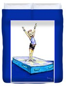 Gymnastic Perfection Duvet Cover