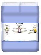 Gymnastics Jumps Duvet Cover