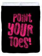 Gymnastics Point Your Toes Hot Pink Gymnast Light Duvet Cover
