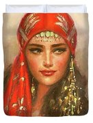 Gypsy Girl Portrait Duvet Cover