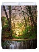 Gypsy Glen  Rd Waterfall  Duvet Cover