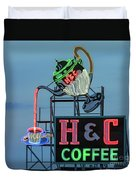 H And C Coffee Duvet Cover