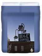 H And C Coffee Sign Roanoke Virginia Duvet Cover
