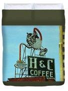 H C Coffee Duvet Cover