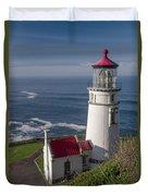 Haceta Head Lighthouse Duvet Cover