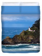 Haceta Head Lighthouse Duvet Cover