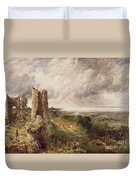 Hadleigh Castle Duvet Cover by John Constable