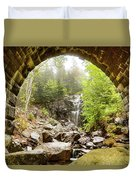 Hadlock Falls Under Carriage Road Arch Duvet Cover