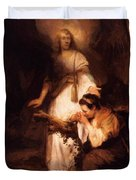 Hagar And The Angel 1645 Duvet Cover