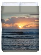 Hagatna Bay Sunset Duvet Cover