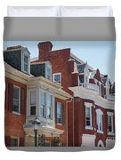 Hagerstown Cityscape Duvet Cover