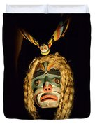 Haida Carved Wooden Mask 4 Duvet Cover