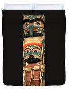 Haida Faces Duvet Cover