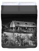 Hainesville Barn B/w Duvet Cover