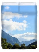 Hairpin Curve On Greek Mountain Road Duvet Cover