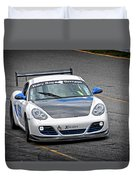 Hairy Dog Garrrage - Porsche - Pit Lane Duvet Cover