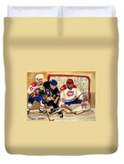 Halak Catches The Puck Stanley Cup Playoffs 2010 Duvet Cover