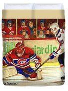 Halak Makes Another Save Duvet Cover by Carole Spandau
