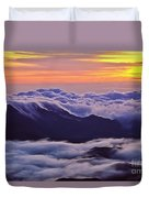 Maui Hawaii Haleakala National Park Golden Dawn Duvet Cover