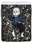 Half Buried Doll Duvet Cover