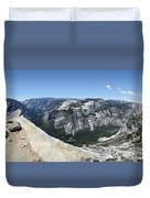 Half Dome And Yosemite Valley From The Diving Board - Yosemite Valley Duvet Cover