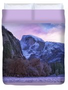 Half Dome Fall And Snow Duvet Cover