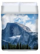 Half Dome In The Clouds Duvet Cover