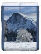 Half Dome In Winter Duvet Cover