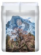 Half Dome Meadow Tree Winter Duvet Cover