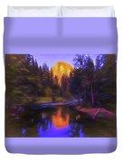 Half Dome Sunset Duvet Cover