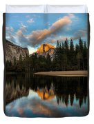 Half Dome Sunset Glow Duvet Cover