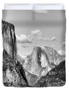 Half Dome Tunnel View  Duvet Cover