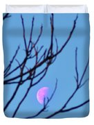 Half Moon Through The Trees Duvet Cover