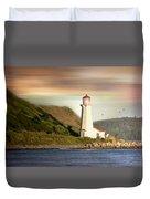 Halifax Harbor Lighthouse Duvet Cover