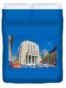 Hall Of Justice In Valparaiso-chile  Duvet Cover