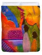 Hallelujah Praise Duvet Cover by Angela L Walker