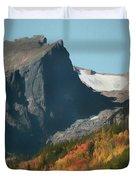 Hallett Peak Fall Colors Duvet Cover