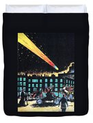 Halleys Comet, 1910 Duvet Cover