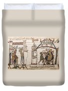 Halleys Comet Of 1066, Bayeux Tapestry Duvet Cover