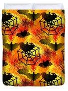 Halloween Abstract - Happy Halloween Duvet Cover