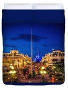 Halloween At Magic Kingdom Duvet Cover