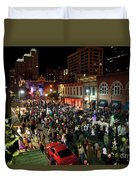 Halloween Draws Tens Of Thousands To Celebrate On 6th Street Duvet Cover