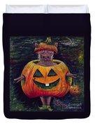Halloween Hog Duvet Cover