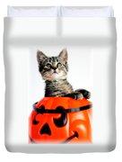 Halloween Kitten Duvet Cover